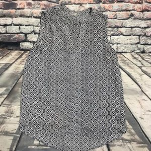 Pleione Black & White Pattern Blouse